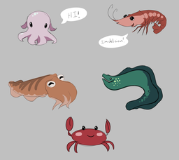 Cute Sea Critters - Commision